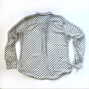 LOFT Tops - Ann Taylor LOFT polka dot button sheer blouse top